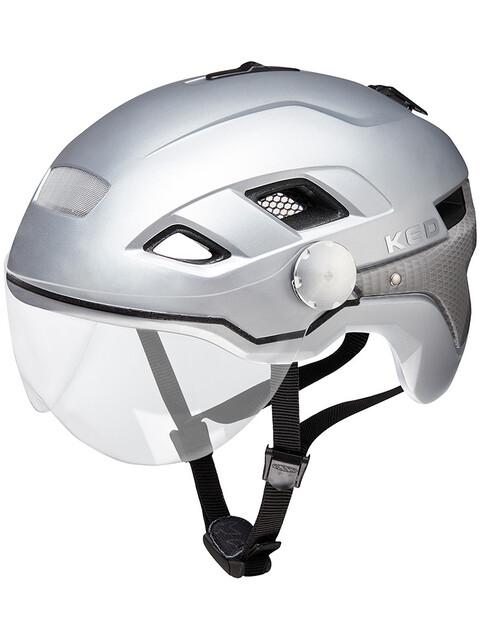 KED B-Vis X-Lite Kask rowerowy srebrny